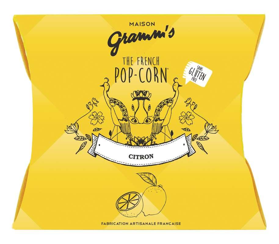 Étui  de Pop-Corn caramel au beurre salé au citron, Maison Gramm's (30 g)