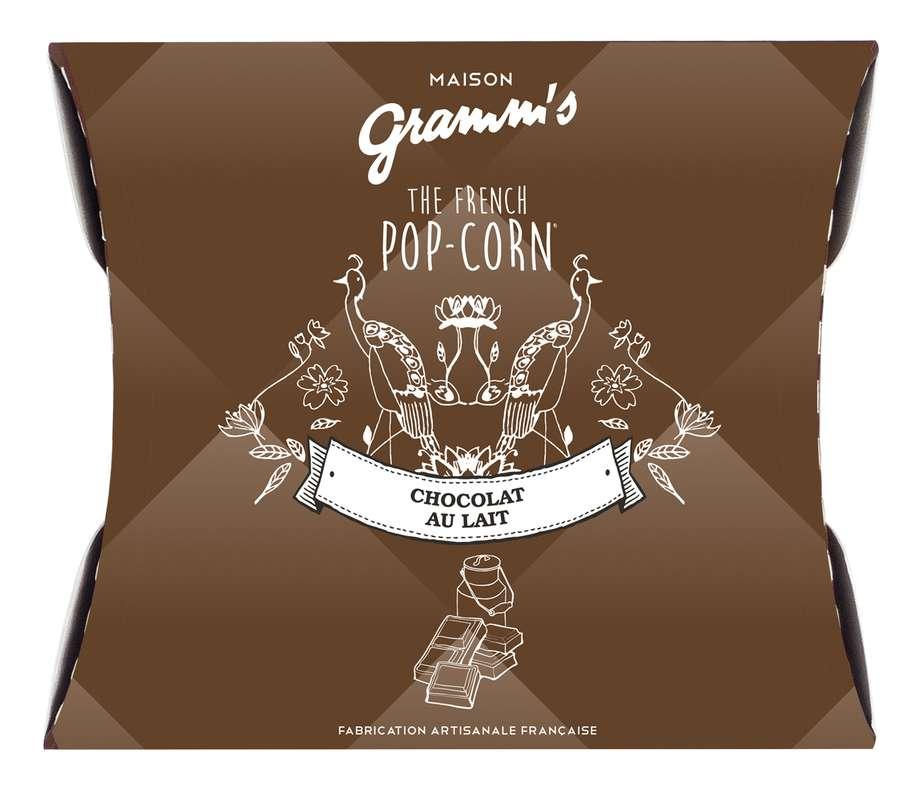 Étui de Pop-Corn caramel enrobé de chocolat au lait, Maison Gramm's (30 g)