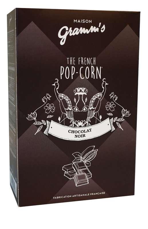 Étui de Pop-Corn caramel enrobé de chocolat noir, Maison Gramm's (100 g)