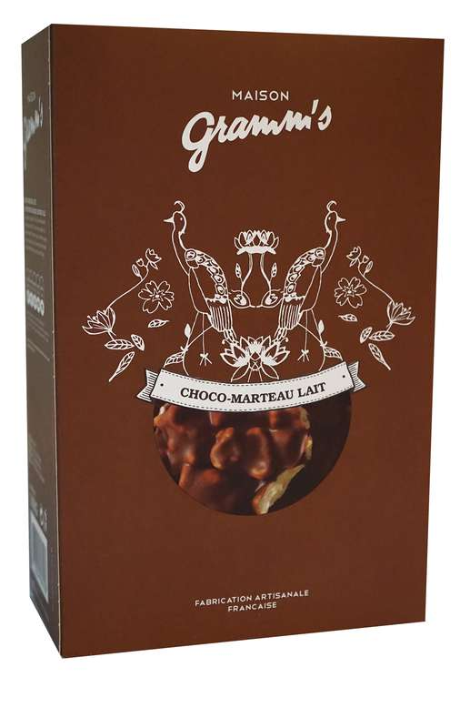 Étui de Choco-Marteau lait, Maison Gramm's (100 g)