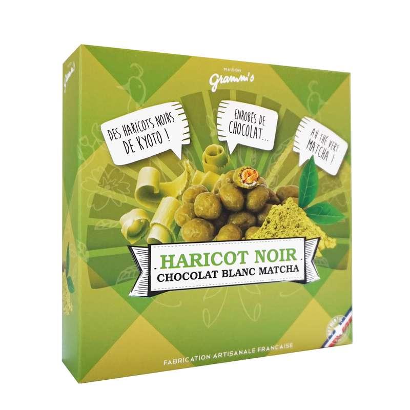 Étui de haricots noirs enrobés de Thé vert Matcha, Maison Gramm's (50 g)