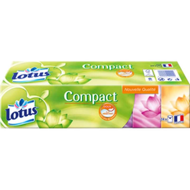 Etuis de mouchoirs Compact extrait de lotus, Lotus (x 24)