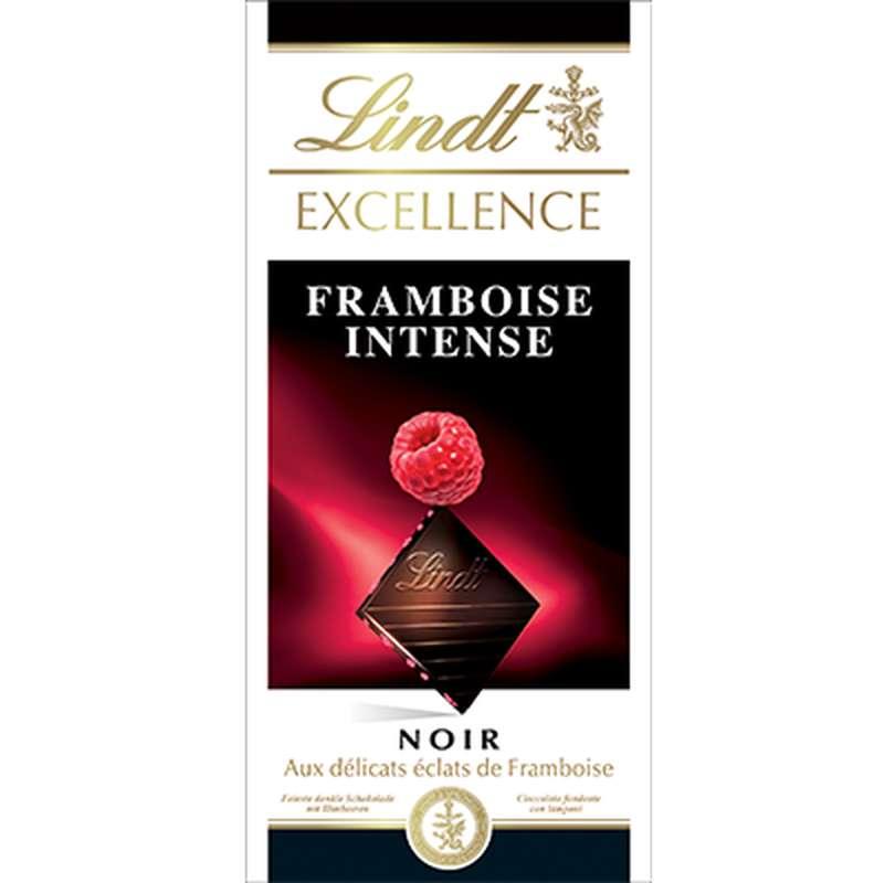 Chocolat noir framboise intense, Lindt (100 g)