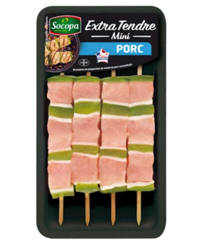 Mini brochettes de porc extra tendre, Socopa (x 4, 220 g)