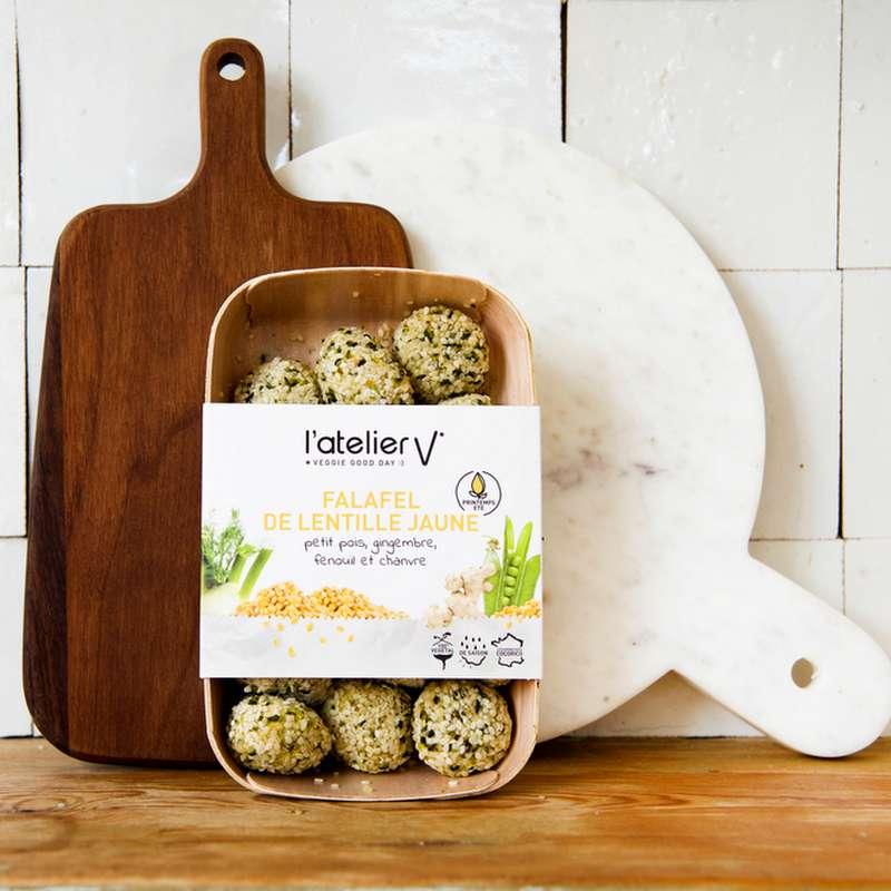 Falafels de lentille jaune, petit pois, gingembre, fenouil et chanvre BIO, L'Atelier V (225 g)