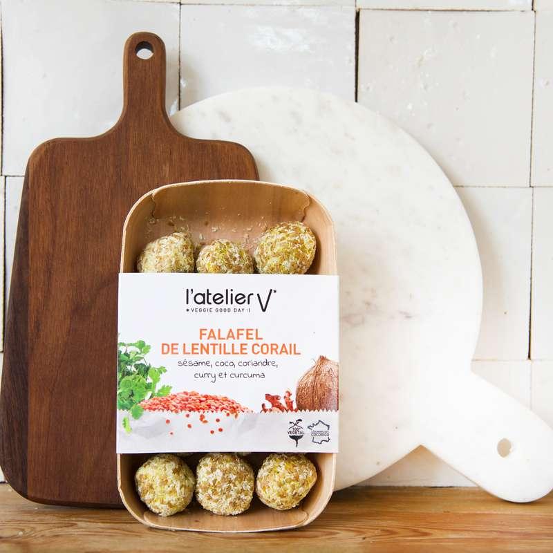 Falafels de lentilles corail BIO, L'Atelier V (225 g)