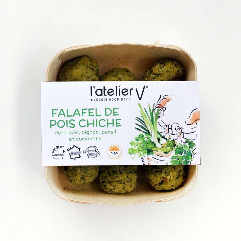 Falafels de pois chiche, sésame, oignon, persil et coriandre BIO, L'Atelier V (135 g)