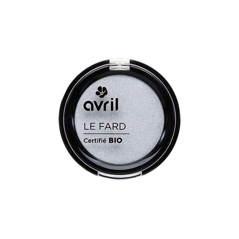 Fard à paupières gris perle irisé certifié BIO, Avril (2,5 g)
