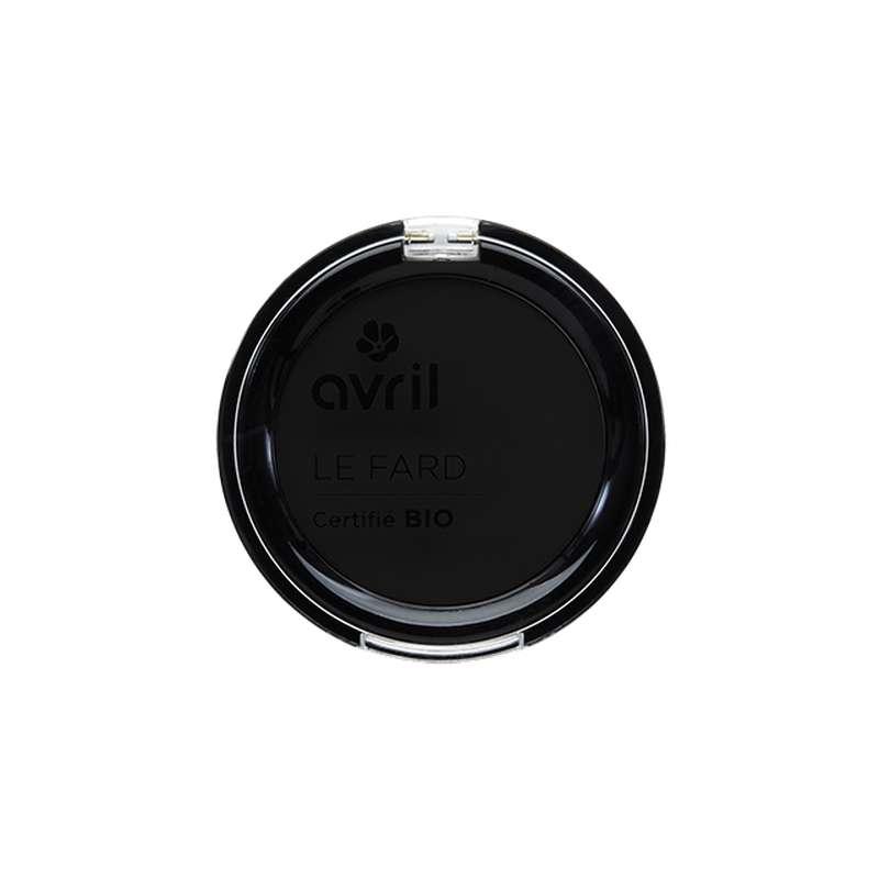 Fard à paupières noir ébène mat certifié BIO, Avril (2,5 g)