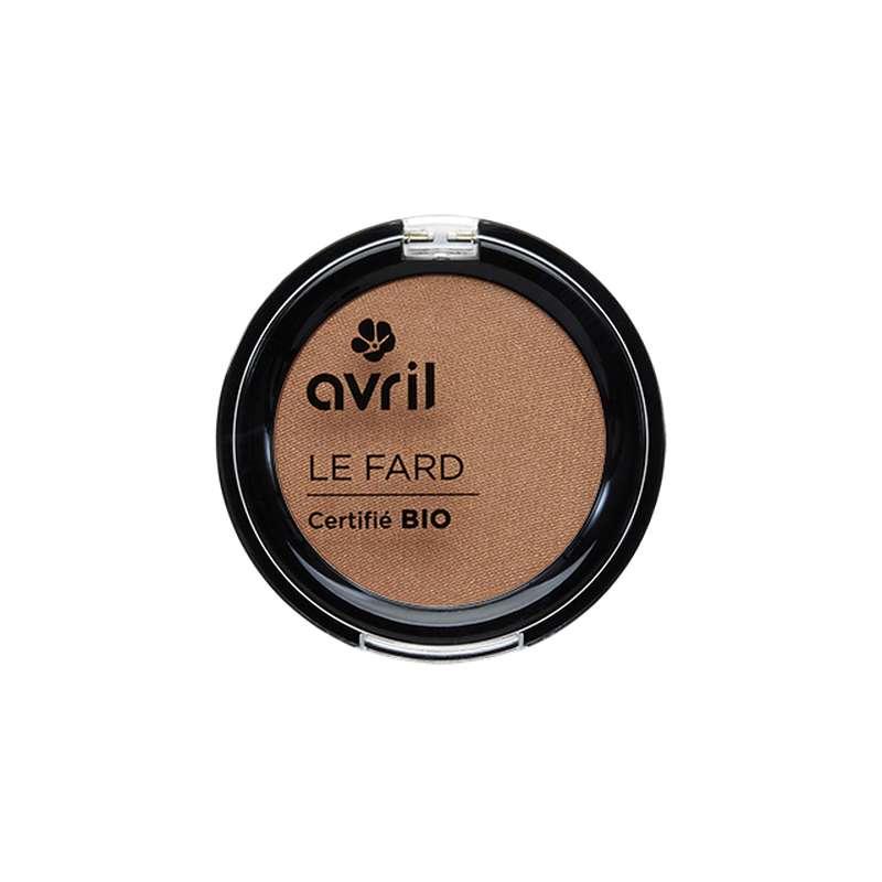 Fard à paupières cuivre irisé certifié BIO, Avril (2,5 g)