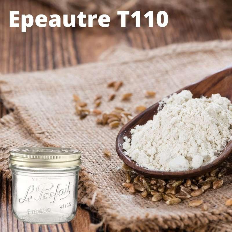Farine d'épeautre T110 BIO bocal consigné / 2,5€ récupérable (730 g)