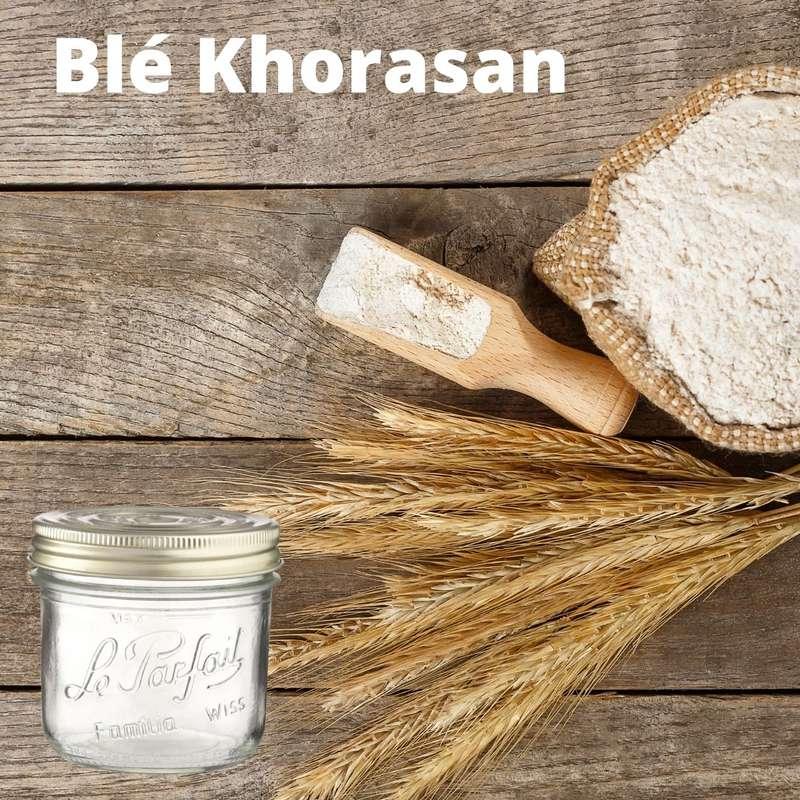 Farine de Blé Khorasan T70 BIO bocal consigné / 2,5€ récupérable (750 g)