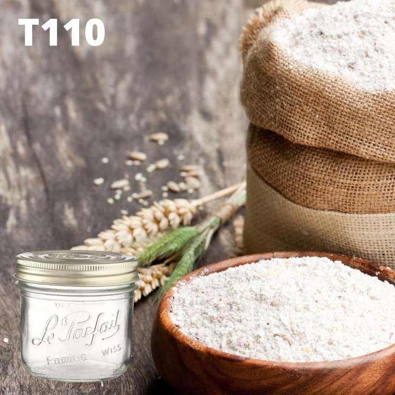 Farine de blé T110 BIO bocal consigné / 2,5€ récupérable (750 g)