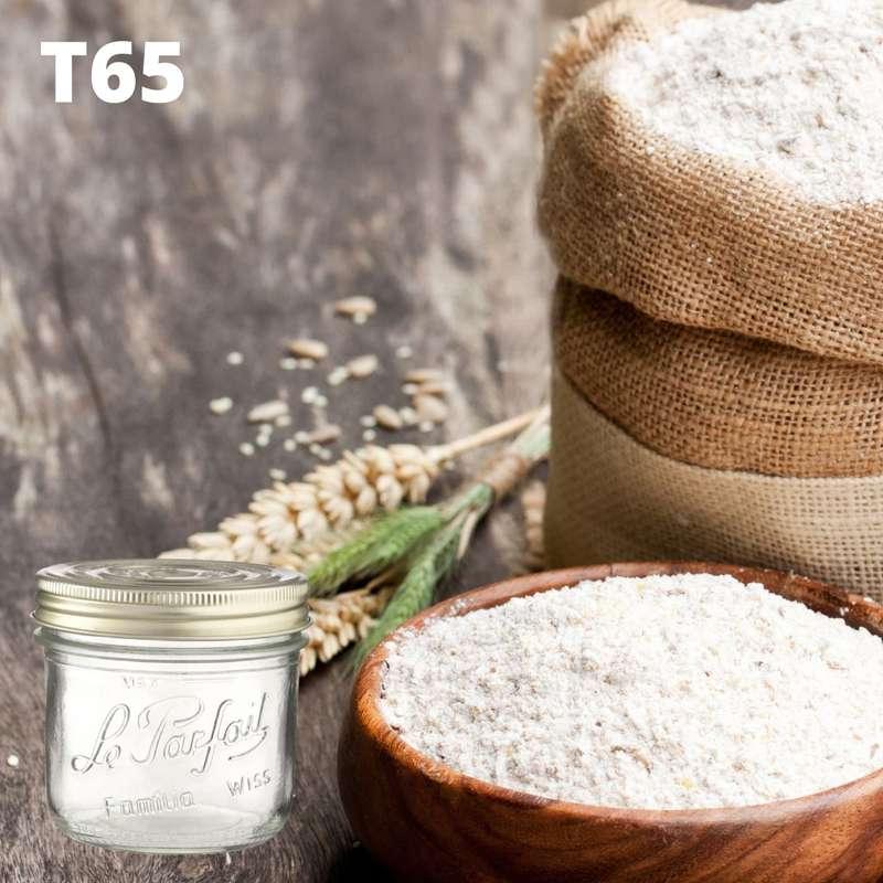 Farine de blé T65 BIO bocal consigné / 2,5€ récupérable (750 g)