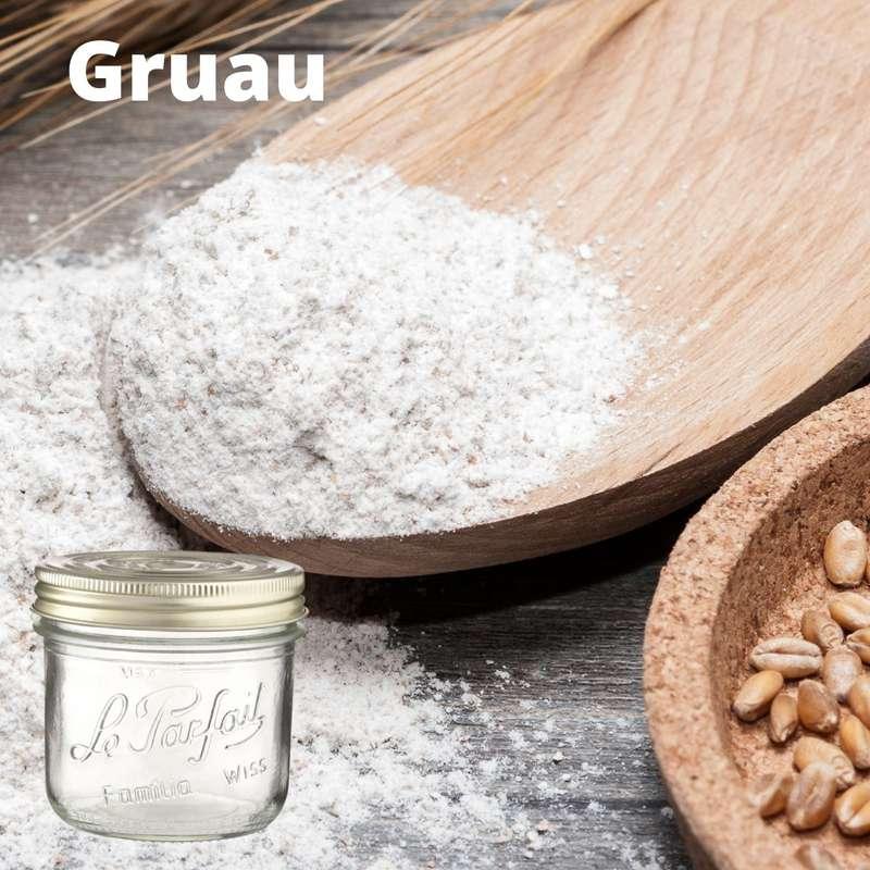 Farine de gruau BIO bocal consigné / 2,5€ récupérable (750 g)