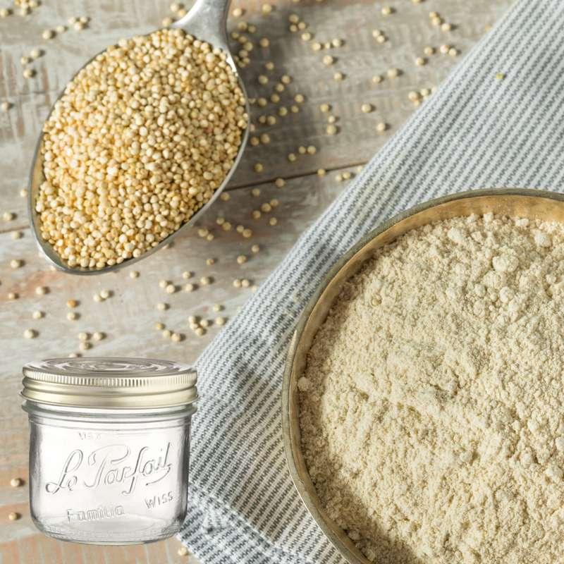 Farine de quinoa BIO bocal consigné / 2,5€ récupérable (650 g)