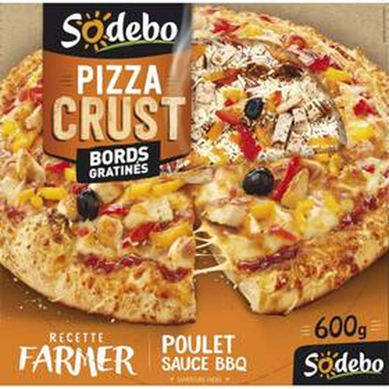 "Pizza ""Crust"" Farmer poulet sauce barbecue, Sodebo (600 g)"