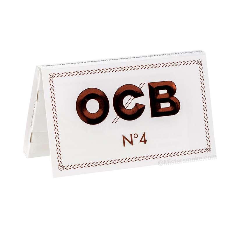 Feuilles à rouler Blanches résistantes N°4, OCB (x100) (calibre moyen)