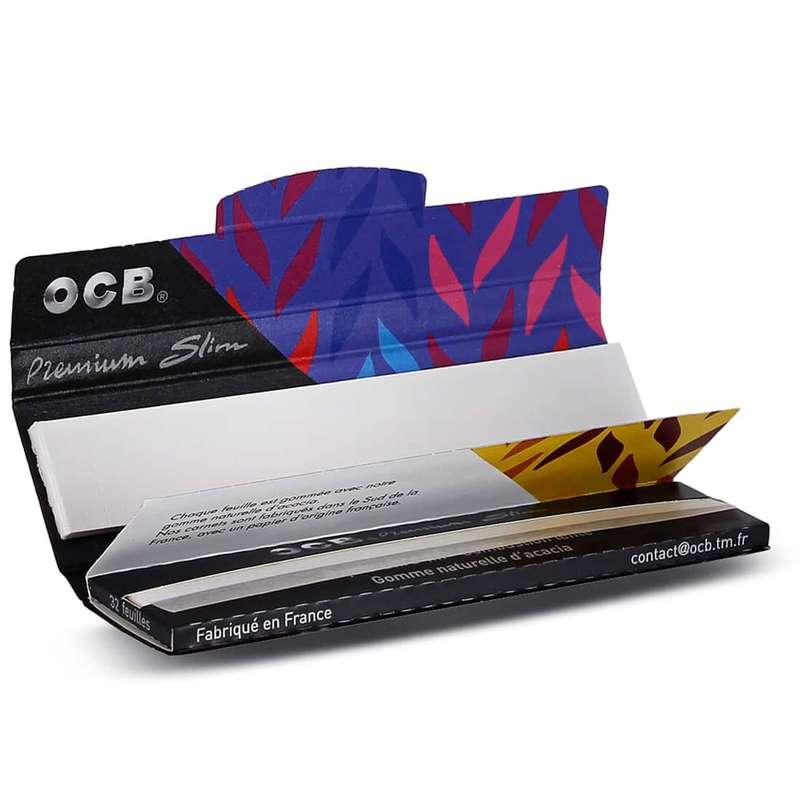 Feuilles à rouler large avec carton pré-découpé Slim & Tips, OCB (x32) (très petit calibre)