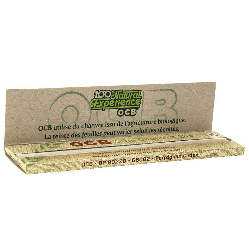 Feuilles à rouler large Slim Chanvre biodégradable OCB (x32) (petit calibre)