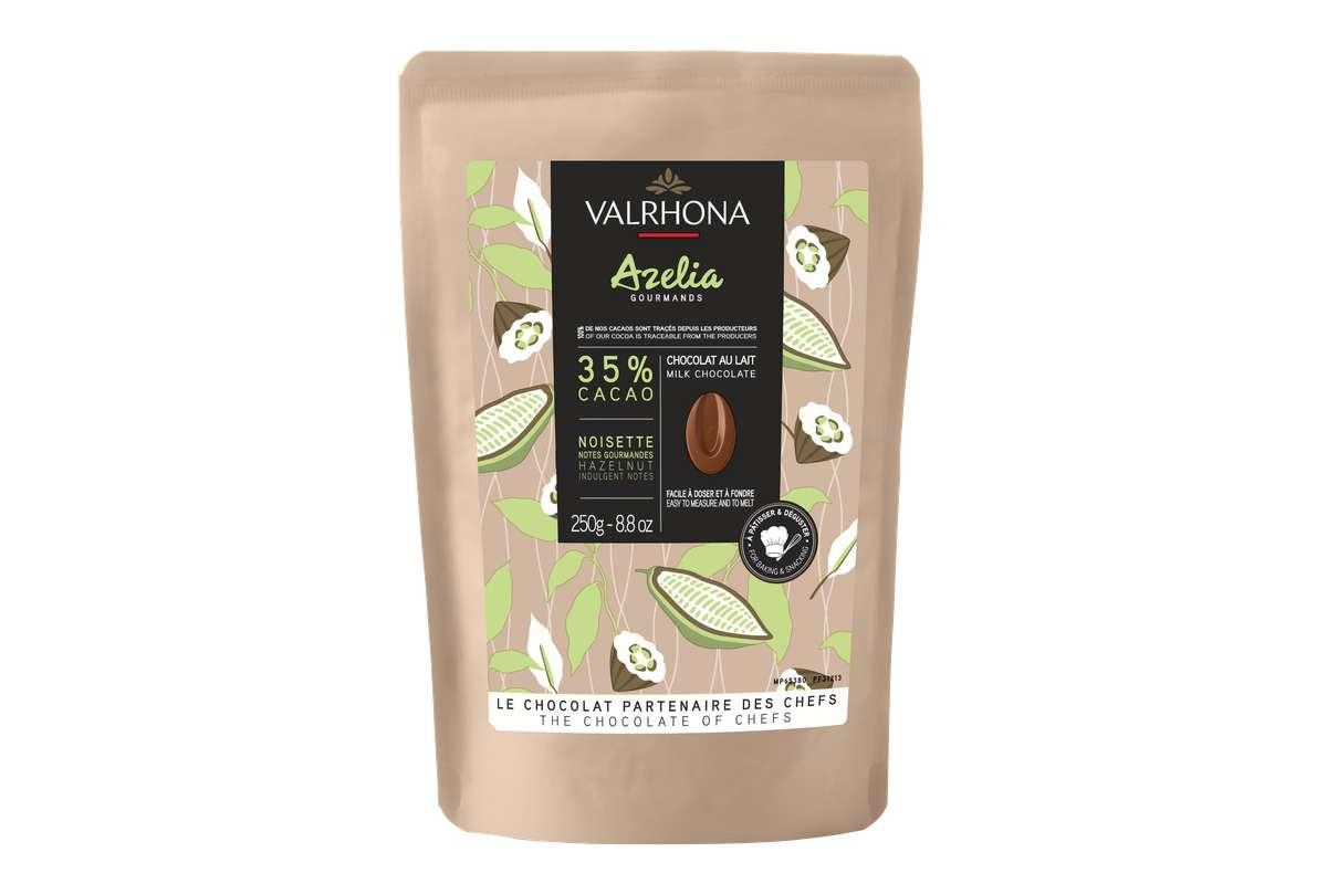 Fèves de chocolat Azelia 35%, Valrhona (250 g)
