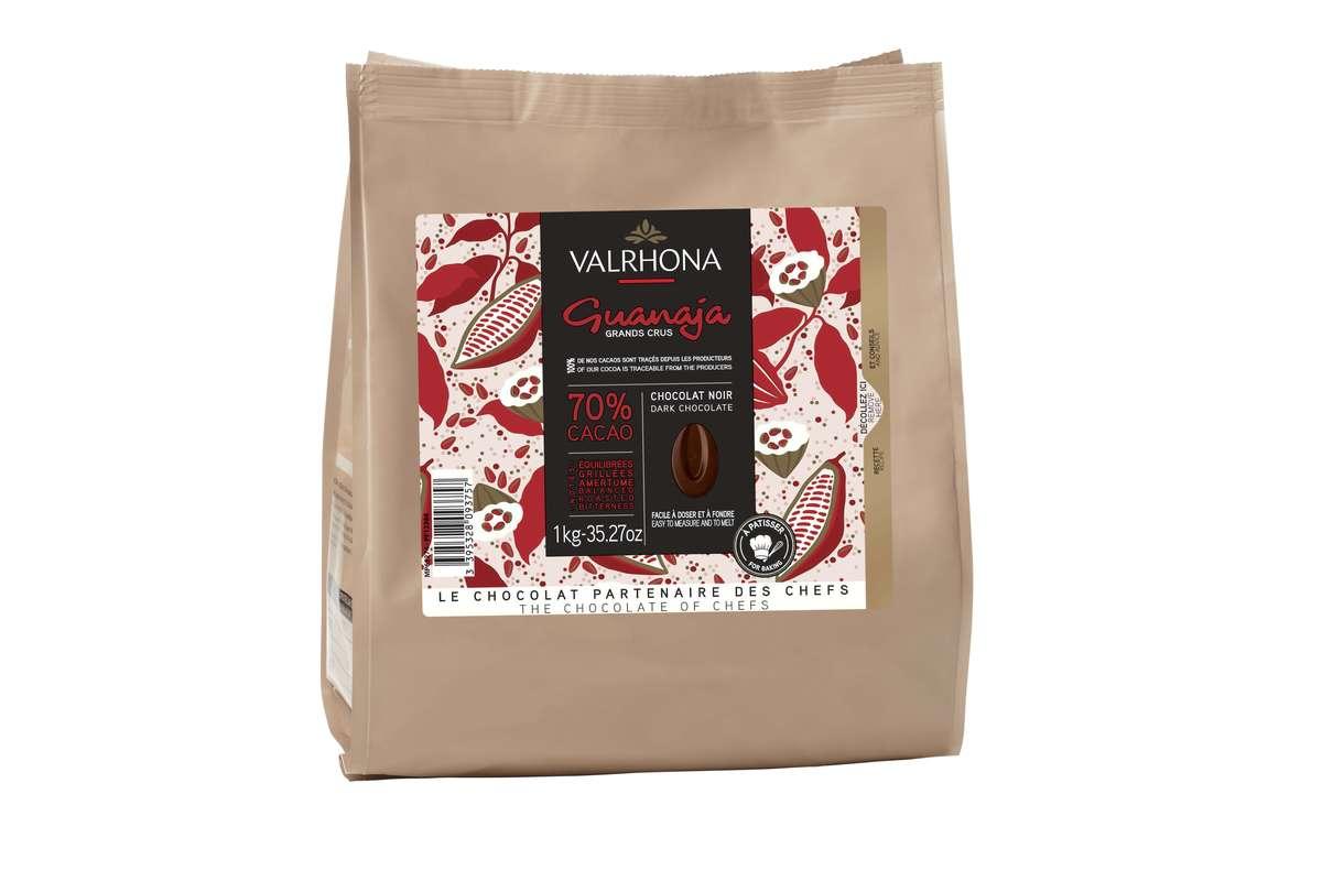 Fèves de chocolat Guanaja 70%, Valrhona (1 Kg)