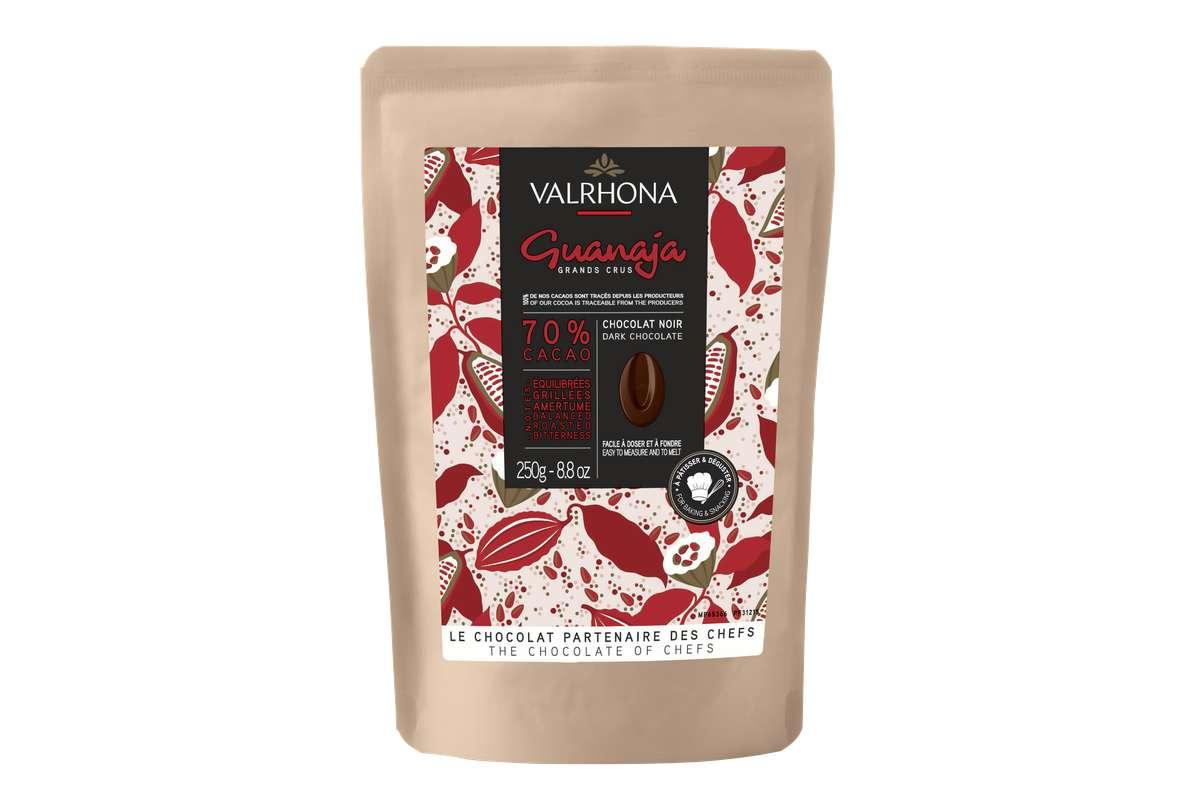 Fèves de chocolat Guanaja 70%, Valrhona (250 g)