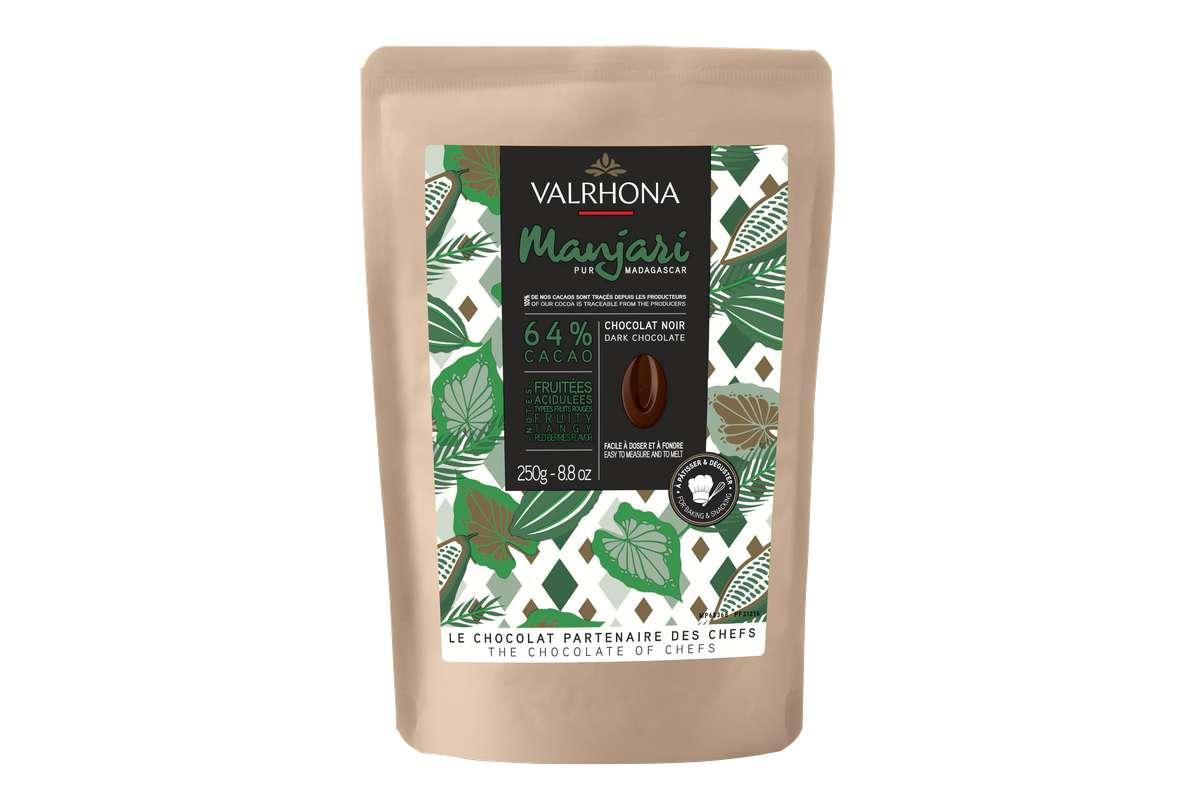 Fèves de chocolat Manjari 64%, Valrhona (250 g)