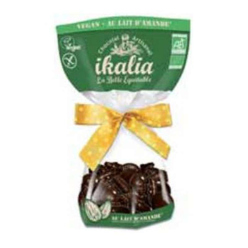 Figurines de Pâques vegan chocolat au lait d'amande, Ikalia (80 g)
