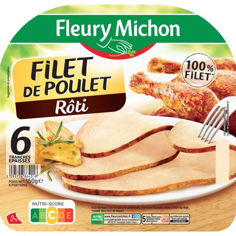 Filet de poulet rôti supérieur, Fleury Michon (6 tranches, 160 g)
