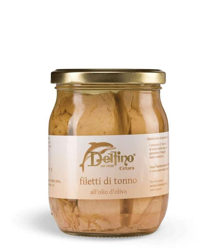 Filet de thon à l'huile d'olive, Delfino (545 g)