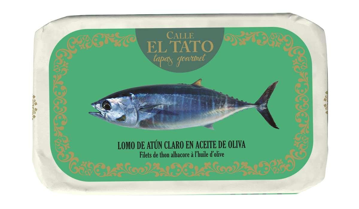 Filet de thon Albacore à l'huile d'olive, Calle El Tato (85 g)