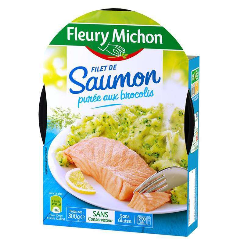 Filet de saumon purée de brocolis, Fleury Michon (300 g)