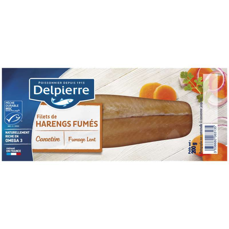 Filets de harengs fumés, Delpierre (200 g)
