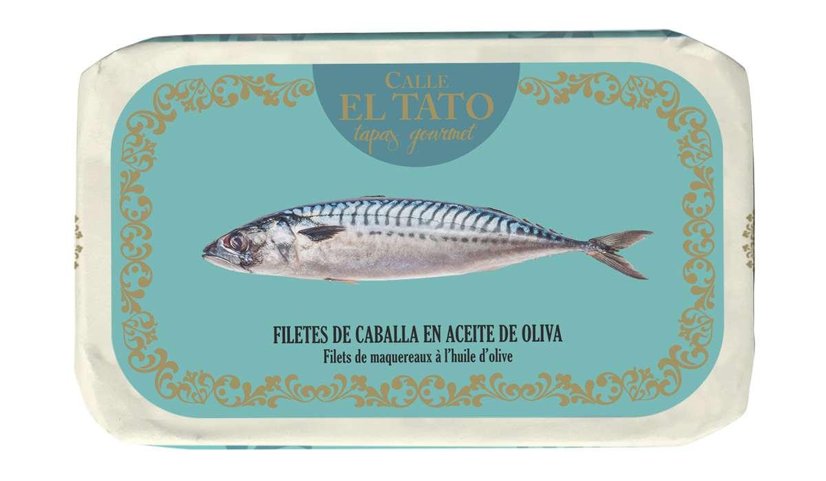 Filets de maquereau à l'huile d'olive, Calle El Tato (85 g)