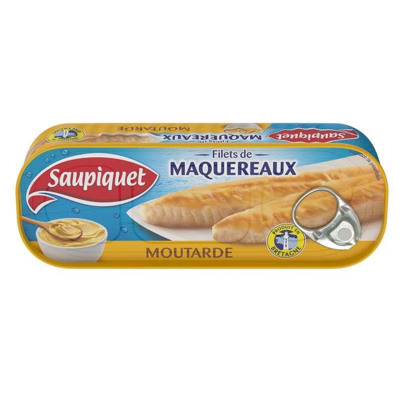 Filets de maquereaux à la moutarde, Saupiquet (169 g)