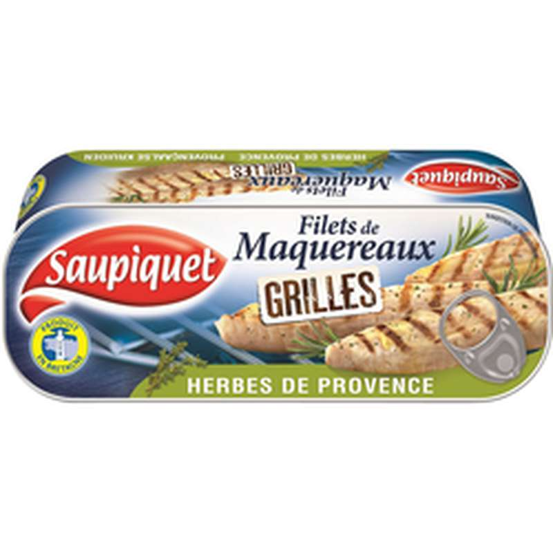 Filets de maquereaux grillés aux herbes de Provence, Saupiquet (120 g)