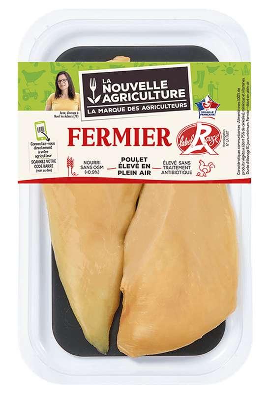 Filets de poulet fermier Label rouge, La Nouvelle Agriculture (x 2, 280 g)