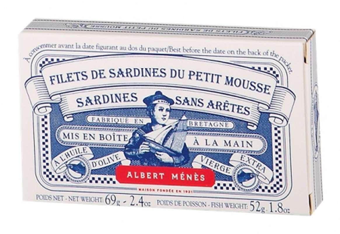 Filets de sardines du Petit Mousse - sans arêtes, Albert Ménès (69 g)