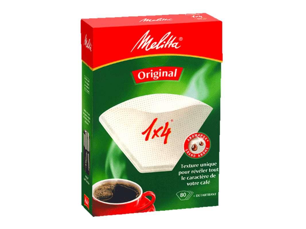 Filtres à café 1x4, Melitta (x 40)