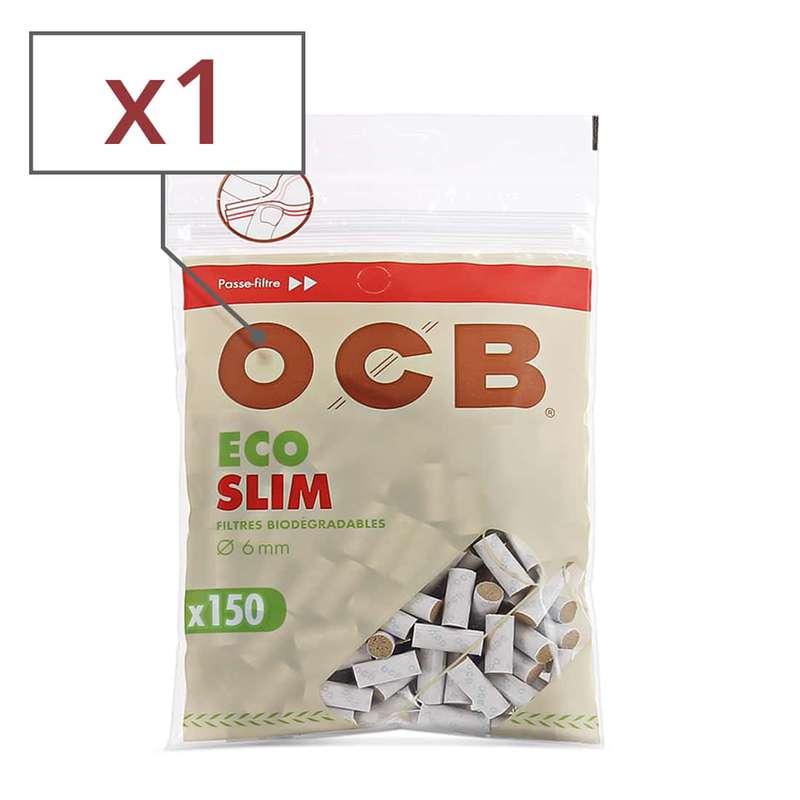 Filtres ECO BIO Slim en sachet, OCB (x150) (calibre moyen)