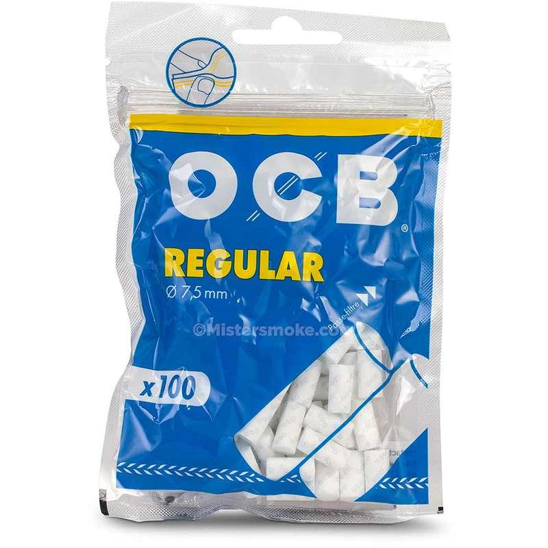 Filtres Regular en sachet, OCB (x100) (calibre moyen)
