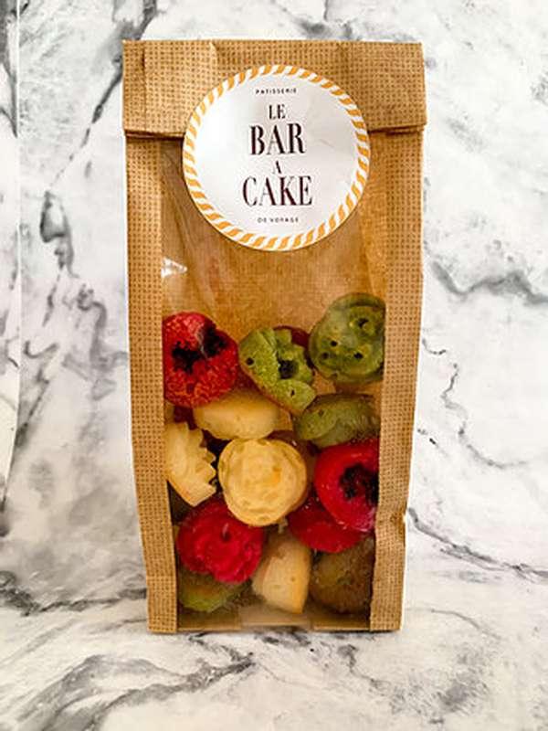 Financiers amande, framboise et pistache, Le Bar à Cake (x24, 120 g)