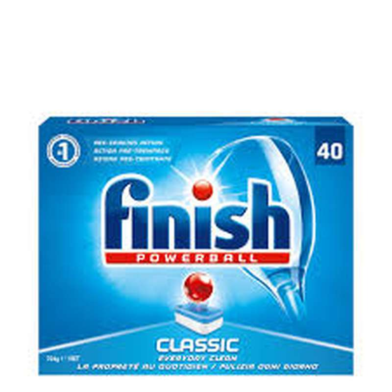 Tablettes lave vaisselle Powerball Classic, Finish Calgonit (x 40)