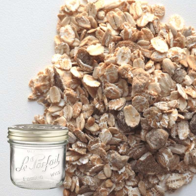 Flocons 4 céréales BIO bocal consigné / 2,5€ récupérable (500 g)