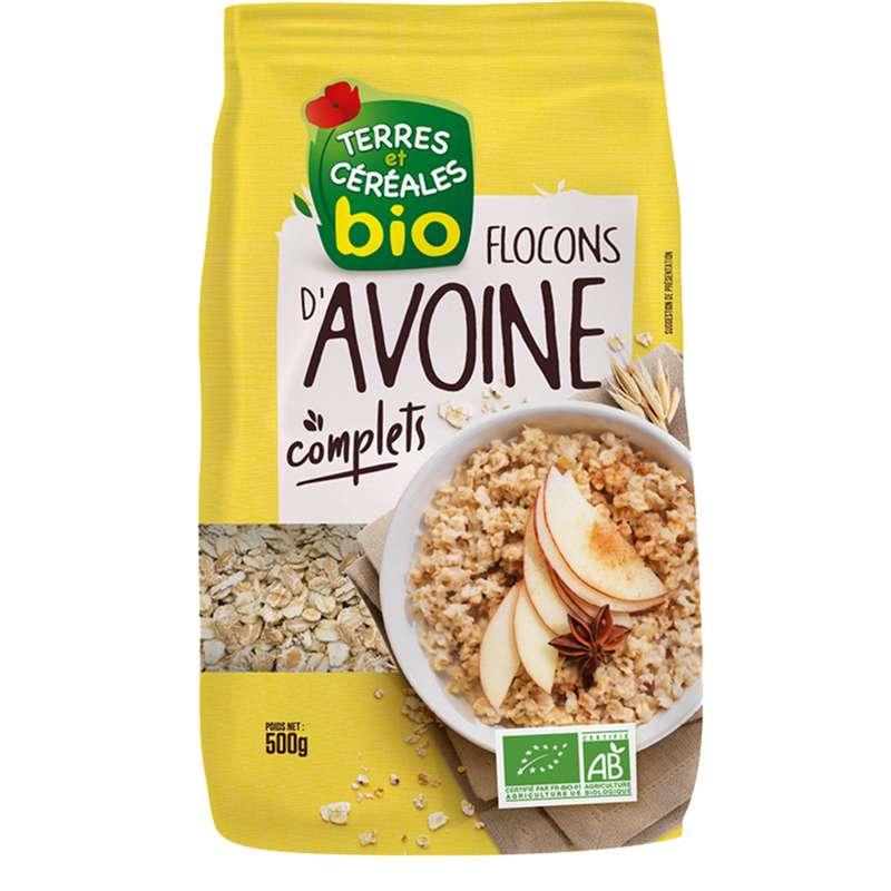 Flocons d'avoine BIO, Terre & Céréales (500 g)