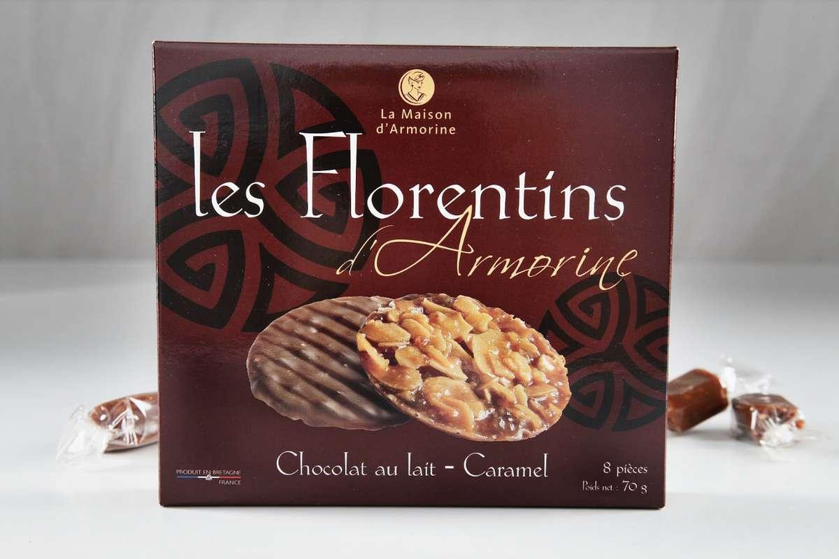 Florentin au chocolat au lait et écorces d'orange, La Maison d'Armorine (70 g)