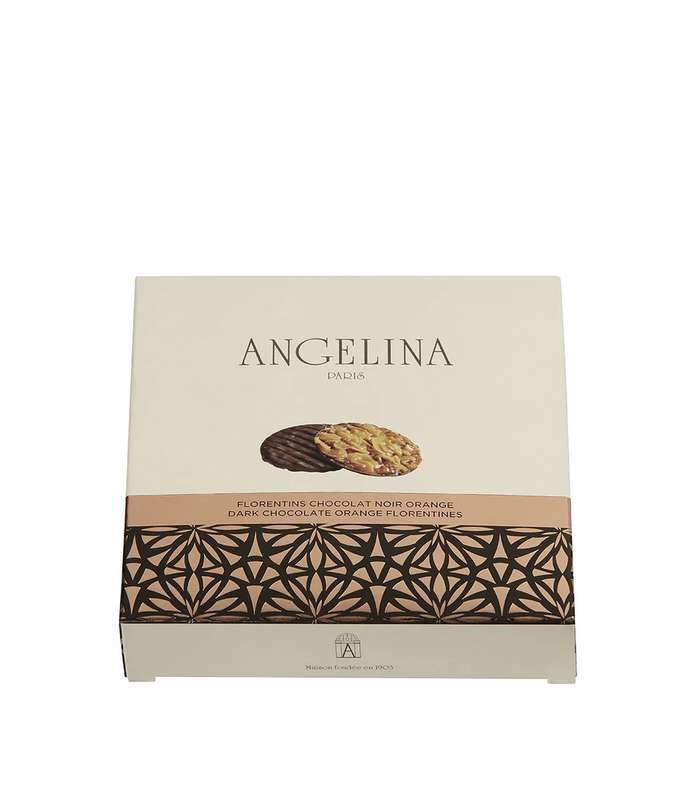 Florentins chocolat noir et orange, Angelina (70 g)