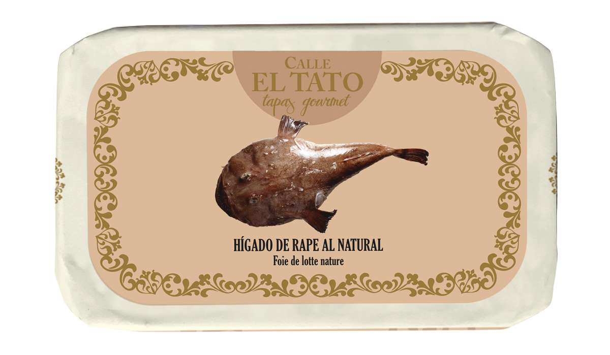 Foie de lotte au naturel, Calle El Tato (85 g)