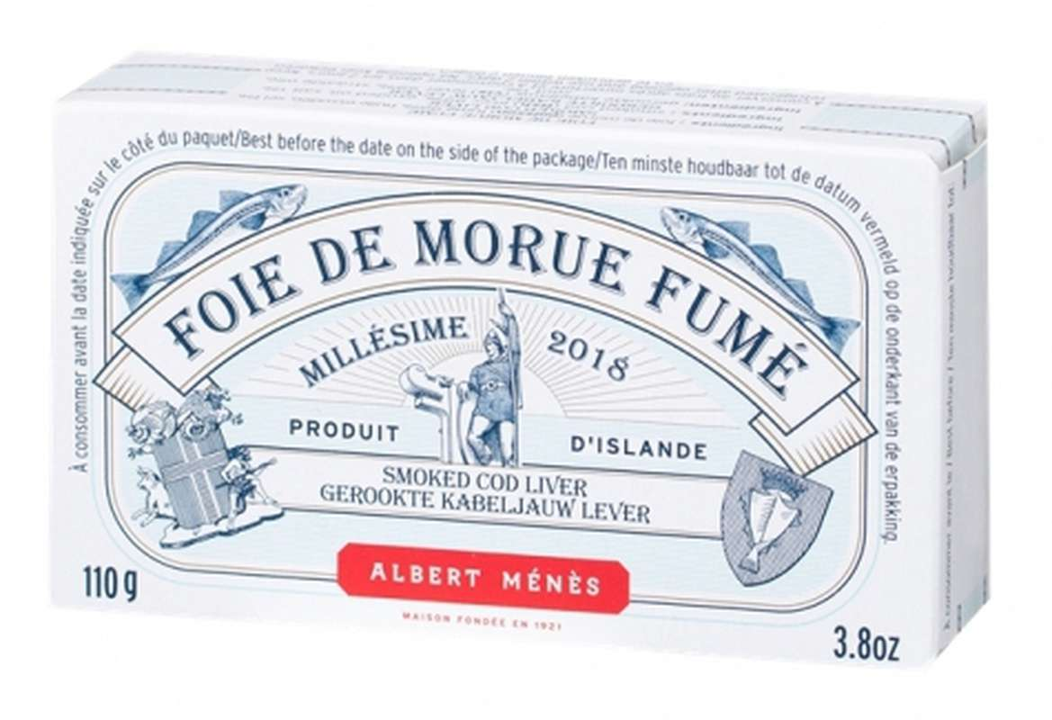 Foie de morue fumé millésimé, Albert Ménès (110 g)